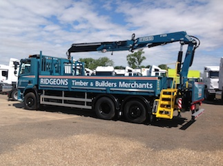 Ridgeons chassis with certified crane