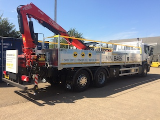 SB installed of FASSI crane from reverse